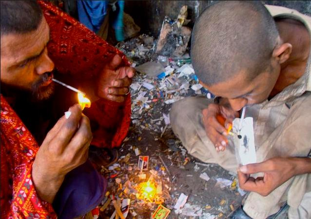 drug addicts in Pakistan